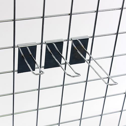 gitterhaken doppelt f r dekogitter wandgitter dps. Black Bedroom Furniture Sets. Home Design Ideas